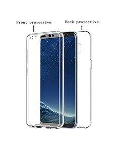Merkloos 360° Protection Hoesje PC & Kunststof Transparant voor de Samsung Galaxy S9+ Plus