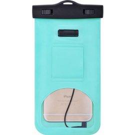 Merkloos Neon Multi Functional Waterdichte hoesje Pouch Met Audio Jack Samsung Galaxy J7 Prime 2 Groen