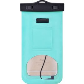 Merkloos Neon Multi Functional Waterdichte hoesje Pouch Met Audio Jack Sony Xperia XZ2 Premium Groen