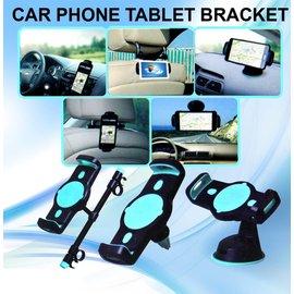 Ntech Ntech Universele Tablet & Smartphone Autohouder 360 Draaibaar met 3 in 1 Mount/Bevestigings functie
