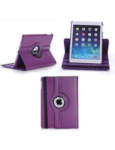 Merkloos Apple iPad Air 2 Case, 360 graden draaibare Hoes, Cover - Paars