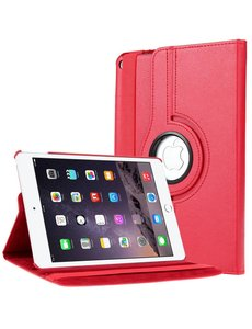 Merkloos Apple iPad Air 2 Case, 360 graden draaibare Hoes, Cover - Rood