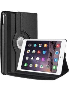 Merkloos Apple iPad Air 2 Case, 360 graden draaibare Hoes, Cover - Zwart