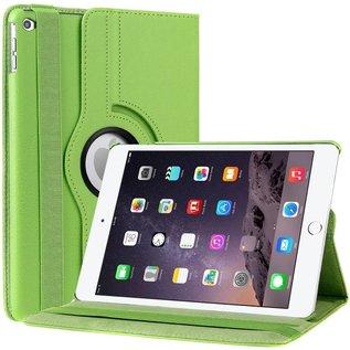 Merkloos  iPad Air 2 Case, 360 graden draaibare Hoes, Cover met Multi-stand Kleur Groen