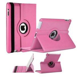 Merkloos Luxe 360 graden Protect cover case voor iPad 2 / 3 / 4 Licht Roze