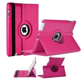 Merkloos Luxe 360 graden Protect cover case voor iPad 2 / 3 / 4  Roze