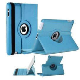 Merkloos Luxe 360 graden Protect cover case voor iPad 2 / 3 / 4 Licht Blauw