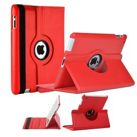 Merkloos Luxe 360 graden Protect cover case voor iPad 2 / 3 / 4 Rood