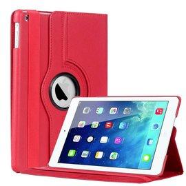 Merkloos Apple iPad Air Luxe Hoes Cover Rotatie Beschermhoes Rood