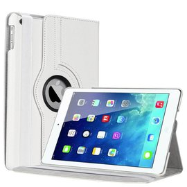 Merkloos Apple iPad Air Luxe 360 Rotation Case Cover Wit