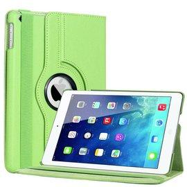 Merkloos iPad Air 360 Graden Rotatie Hoes Cover Case Groen