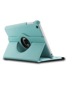 Merkloos iPad Mini / Mini 2 Case, 360 Graden Draaibare hoesje Licht Blauw