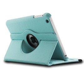 Merkloos iPad Mini / Mini 2 Case, 360 Graden Draaibare Hoes Cover met Multi-Stand Licht Blauw