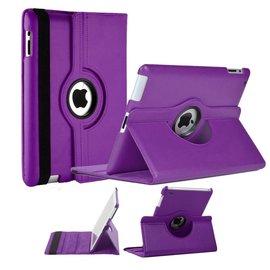 Merkloos Apple iPad Mini / Mini 2 Case, 360 graden draaibare Hoes, Cover met Multi-stand Paars