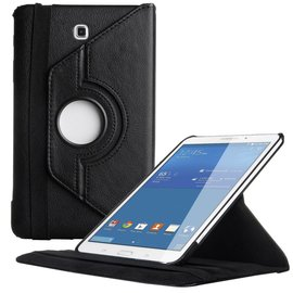 Merkloos Samsung Galaxy Tab 4 8.0 T330 Tablet draaibare case cover hoes Zwart