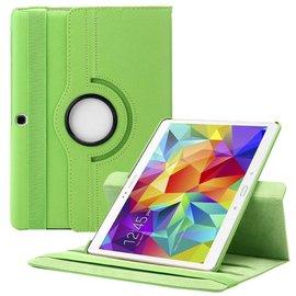 Merkloos Samsung Galaxy Tab S 10.5 inch T800 / T805 Tablet hoesje met 360° draaistand Case Cover kleur Groen