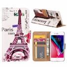 Ntech iPhone 7+(Plus) Eiffeltoren (1889) Design Booktype Kunstleer Hoesje Met Pasjesruimte