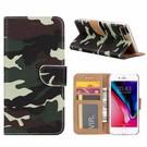 Ntech iPhone 7+(Plus) Camouflage Design Booktype Kunstleer Hoesje Met Pasjesruimte