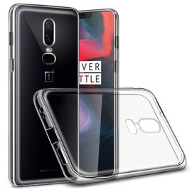 Merkloos transparant TPU hoesje ultra thin silicone voor Oneplus 6