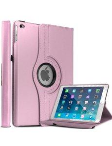 Merkloos Apple iPad Air 2 Case, 360 graden draaibare Hoes, Cover Licht Roze