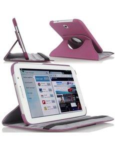 Merkloos Samsung Galaxy Tab 3 7.0 Lite T110 draaibare case cover hoesje Paars