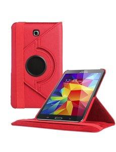 Merkloos Samsung Galaxy Tab 4 7.0 inch Tablet hoesje 360 Draaibaar Case - Rood