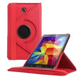 Merkloos Samsung Galaxy Tab 4 7.0 inch Tablet hoesje cover 360 graden draaibaar Case met Multi-stand kleur Rood