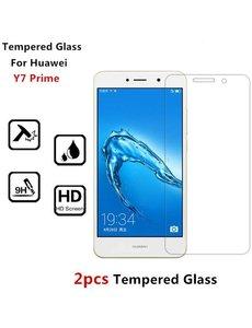 Merkloos 2 Stuks - Huawei Y7 Prime (2018) Screenprotector Tempered Glass (0.3mm)