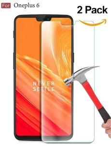 Merkloos 2 Pack OnePlus 6 (2018) Screenprotector / Beschermglas Tempered Glass Screen