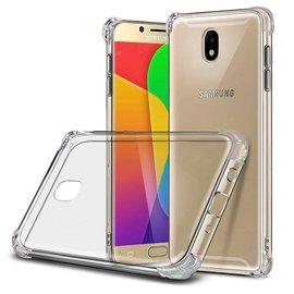 Merkloos Samsung Galaxy J7 (2017) Transparent Anti Burst Hoesje / Shock Proof Crystal Clear TPU Case