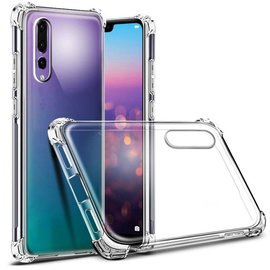Merkloos Huawei P20 Pro Transparent Anti Burst Hoesje / Shock Proof Crystal Clear TPU Case