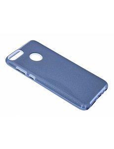 Merkloos Huawei P smart Zwart Glitter TPU backcover Hoesje