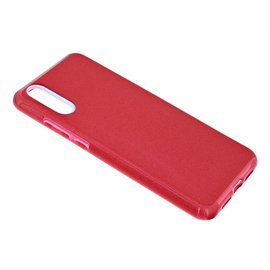 Merkloos Huawei P20 Rood Glitter TPU Back Cover Hoesje