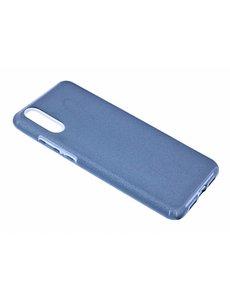 Merkloos Huawei P20 Zwart Glitter TPU backcover Hoesje