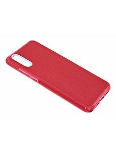 Merkloos Huawei P20 Pro Rood Glitter TPU backcover Hoesje