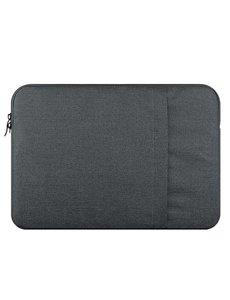 Merkloos MacBook Air 13,3 Inch Hoes-Spatwater proof Sleeve met handvat & ruimte voor accessoires Grijs
