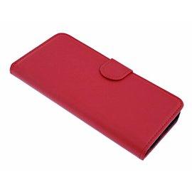 Merkloos iPhone 6(s)+ Plus Rood Booktype Kunstleer Hoesje Met 2 Pasjesruimte