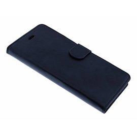 Merkloos iPhone6(s)+ Plus Zwart Booktype Kunstleer Hoesje Met 2 Pasjesruimte