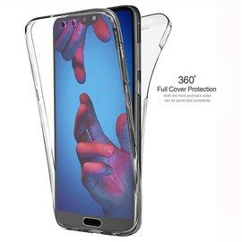 Merkloos 360° Protection Hoesje  PC & Kunststof Transparant voor de Huawei P20 Lite