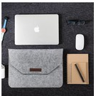 Ntech Macbook 11-13 inch laptop Flip Case van Wolvilt  - Universeel laptoptas Grijs