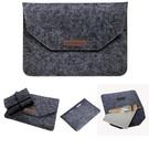 Ntech Macbook 11-13 inch laptop Flip Case van Wolvilt  - Universeel laptoptas Zwart