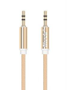 Merkloos AUX Stereo Kabel 3.5mm Jack - 1 Meter Goud