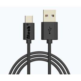 Merkloos USB type-C Kabel 1 meter Oplaadkabel / Datakabel universeel voor alle Type-C Apperaten Zwart