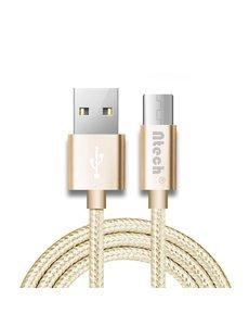 Merkloos USB type-C Kabel 1 meter Oplaadkabel / Datakabel universeel voor alle Type-C Apperaten Goud