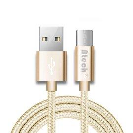 Ntech Ntech USB type-C Kabel 1 meter Oplaadkabel / Datakabel universeel voor alle Type-C Apperaten Goud