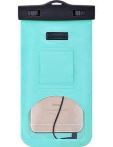 Merkloos Neon Multi Functional Waterdichte hoesje Pouch Met Audio Jack voor de Motorola Moto Z3 Play Groen