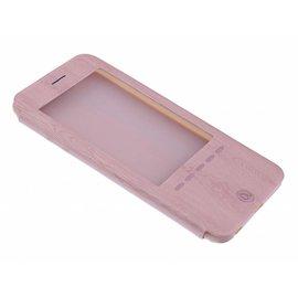 OU case OU Case Rose Goud Wood look Window Cover Hoesje voor iPhone 6+ (Plus) / 6S+ (Plus)