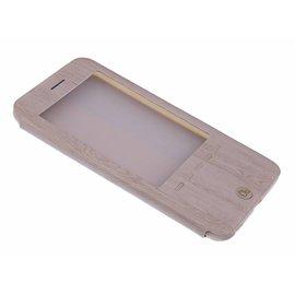 OU case OU Case Goud Wood look Window Cover Hoesje voor iPhone 6+ (Plus) / 6S+ (Plus)