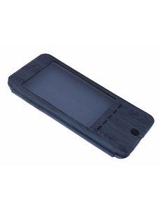 OU case OU Case Donker Grijs Wood look Window Cover Hoesje voor iPhone 6+ (Plus) / 6S+ (Plus)