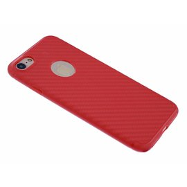 OU case OU Case Rood Soft TPU Hoesje Ferrari series voor iPhone 8 / 7